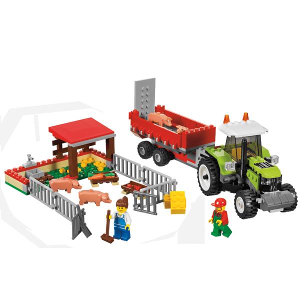 Lego City 7684 Конструктор Лего Город Свиноферма и трактор