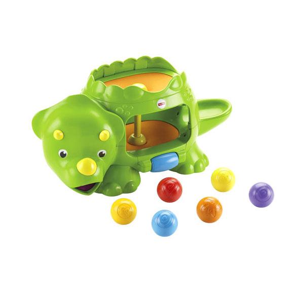 Mattel Fisher-Price DHW03 Фишер Прайс Динозавр с шариками фишер прайс ударяй и играй