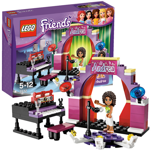 Лего Подружки 3932 Конструктор Андреа на сцене