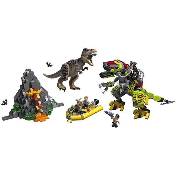 LEGO Jurassic World 75938 Конструктор ЛЕГО Бой тираннозавра и робота-динозавра