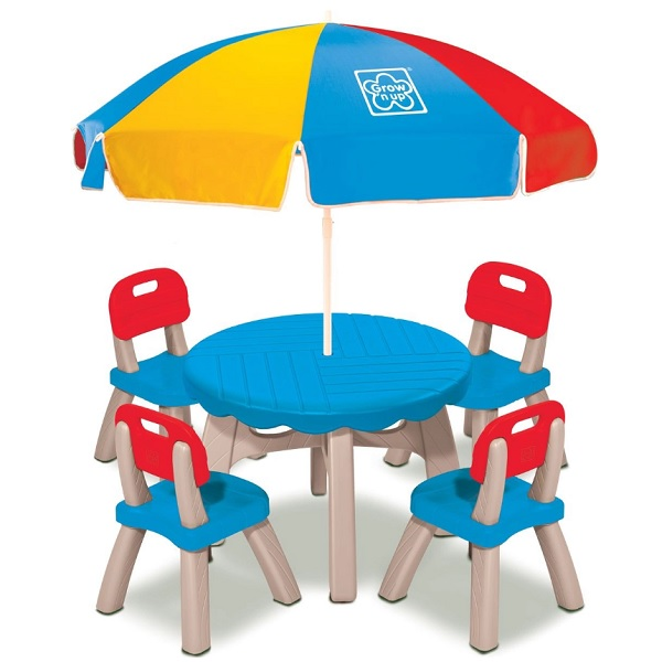GROWN UP 3017-10 Летний набор (столик, 4 стула, зонт)