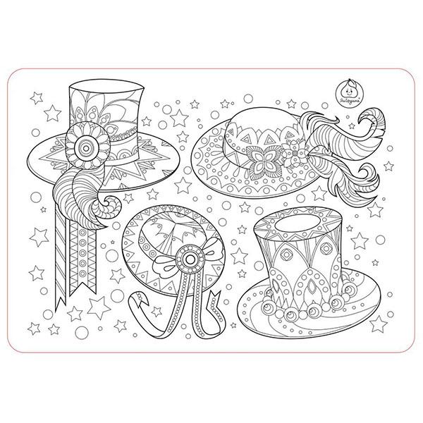 ЯиГрушка 12005YG Коврик-раскраска маленький Аксессуары для девочек - Шляпы размер 48х33,5 см