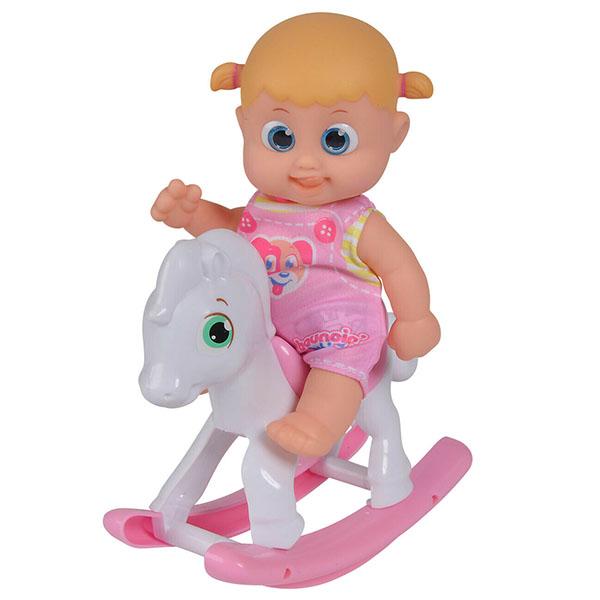 Bouncin' Babies 803003 Кукла Бони с лошадкой-качалкой, 16 см