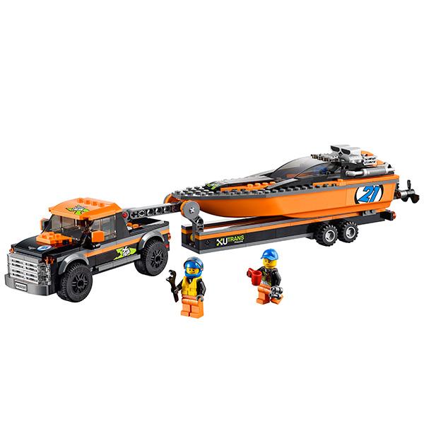 LEGO City 60085 Конструктор ЛЕГО Город Внедорожник 4x4 с гоночным катером