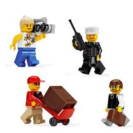 LEGO City 8401 Конструктор ЛЕГО Город Коллекция минифигур Город LEGO