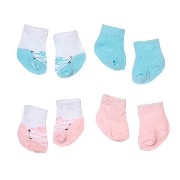 Zapf Creation Baby Annabell 792-285 Бэби Аннабель Носочки (2 пары) (в ассортименте) куклы и одежда для кукол zapf creation baby annabell памперсы 5 штук