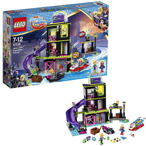 Lego Super Hero Girls 41238 Конструктор Лего Супергёрлз Фабрика Криптомитов Лены Лютор lego super hero girls 41230 лего супергёрлз бэтгёрл погоня на реактивном самолёте