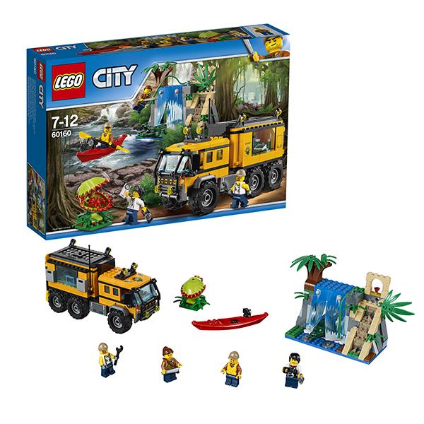 Lego City 60160 Лего Город Передвижная лаборатория в джунглях конструкторы lego lego city jungle explorer база исследователей джунглей 60161
