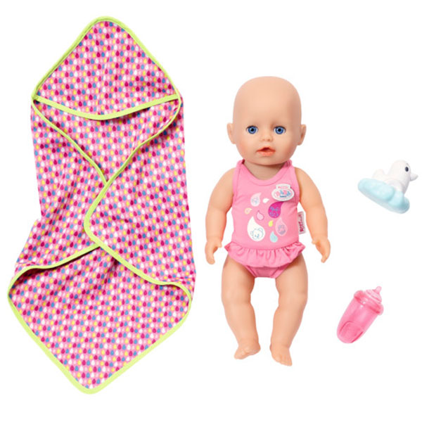 Zapf Creation my little Baby born 825-341 Бэби Борн Кукла для игры в воде, 32 см