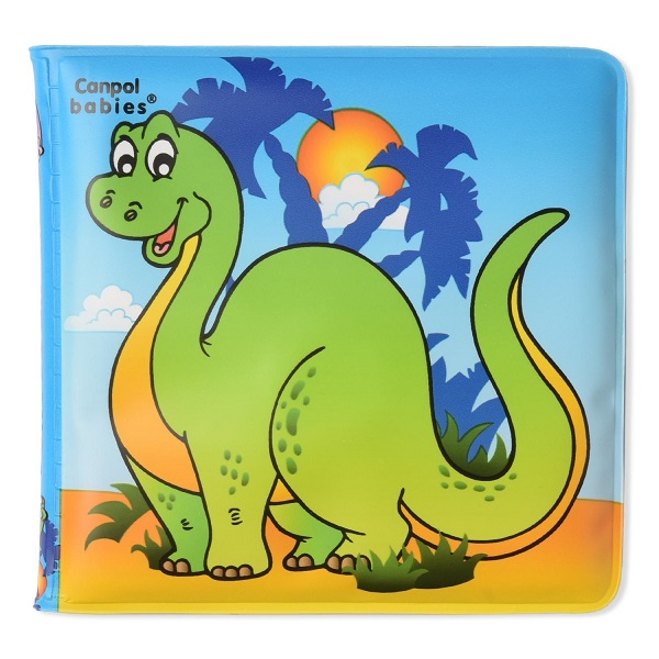 Canpol babies 250930629 Книжка с пищалкой, динозаврик, 6м+