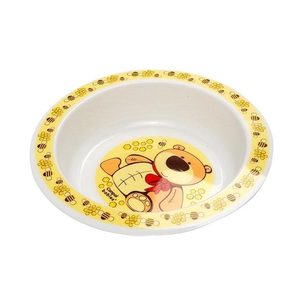 Canpol babies 210307410 Набор обеденный пластиковый, желтый, 12м+
