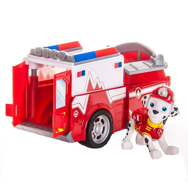 Paw Patrol 16601-Mar Щенячий патруль Машинка спасателя и щенок (Маршал) (в ассортименте)