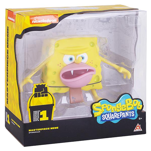 SpongeBob EU691002 Спанч Боб грубый (мем коллекция), 20 см, пластиковый