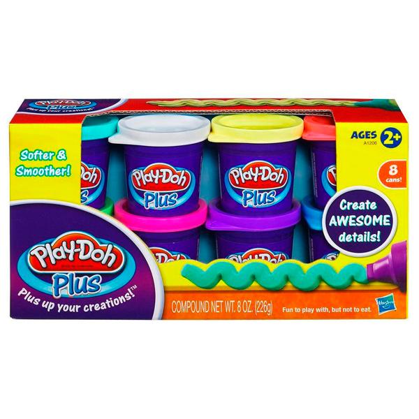 Hasbro Play-Doh A1206 Набор из 8 банок Play-Doh PLUS