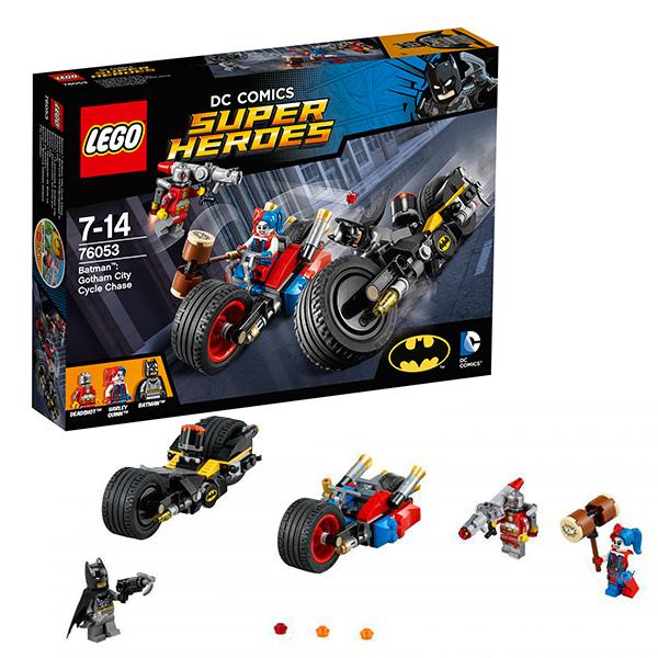 Lego Super Heroes 76053 Конструктор Лего Супер Герои Бэтмен: Погоня на мотоциклах по Готэм-сити ночники lego игрушка минифигура фонарь lego dc super heroes супер герои dc joker джокер на подставке