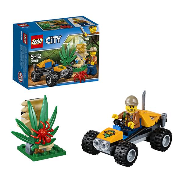 Lego City 60156 Конструктор Лего Город Багги для поездок по джунглям конструктор lego city багги для поездок по джунглям 53 элемента 60156