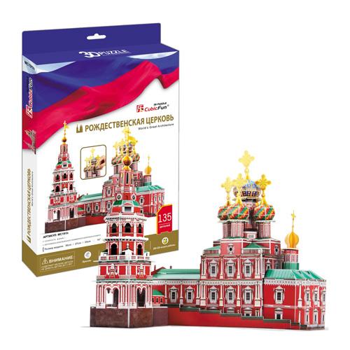 Cubic Fun MC191h Кубик фан Рождественская церковь (Россия) cubic fun собор василия блаженного c707h
