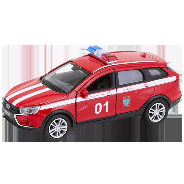 Welly 43763FS Велли Модель машины 1:34-39 LADA VESTA SW CROSS Пожарная охрана