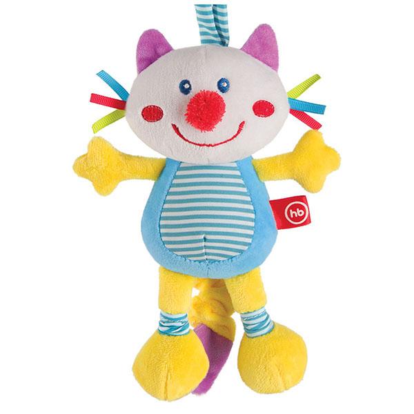 """Happy Baby 330360 Подвесная игрушка-растяжка с вибрацией """"Кот"""" игрушка подвеска happy baby pretty garden"""