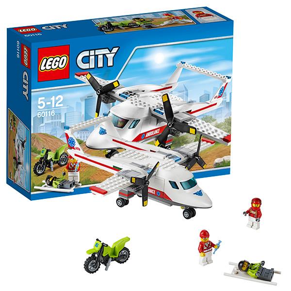 LEGO City 60116 Конструктор ЛЕГО Город Самолет скорой помощи