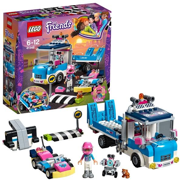 Lego Friends 41348 Конструктор Лего Подружки Грузовик техобслуживания lego duplo конструктор гоночный автомобиль 10589