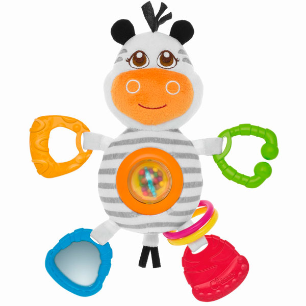 "CHICCO TOYS 7202 Игрушка погремушка мягкая ""Зебра"" от 6 месяцев игрушка погремушка chicco морской котик"