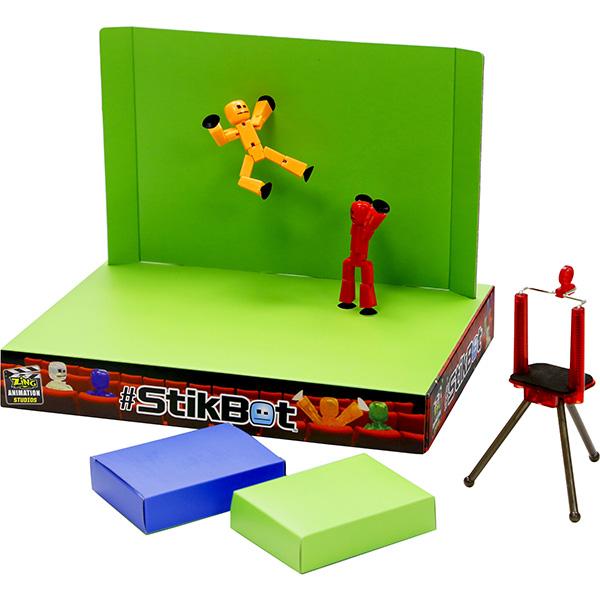 Фото - Stikbot TST617 Стикбот Анимационная студия со сценой stikbot tst620 стикбот фигурки с аксессуарами