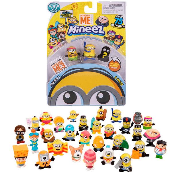 Moose Minions 58202 Миньоны Набор 3 фигурки Гадкий Я-3 mymei 1 комплект 12шт набор гадкий я 2 миньоны рисунок игрушки в розницу 96408