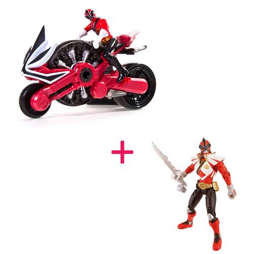 Power Rangers Samurai 31550NB Мотоцикл с фигуркой Могучего рейнджера 10 см + Фигурка самурая 10 см