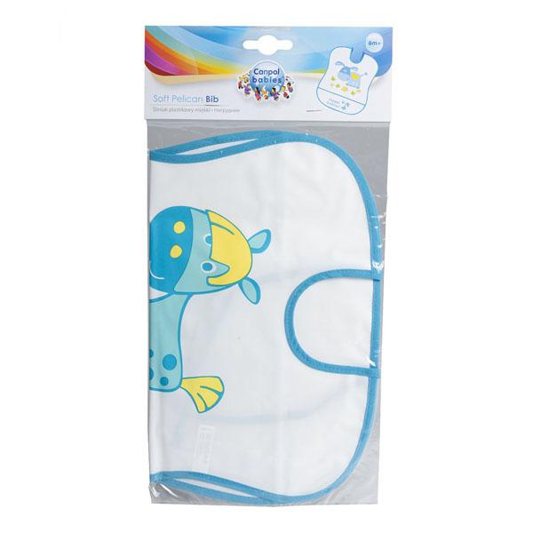 Canpol babies 250930230 Нагрудник пластиковый мягкий, бирюзовая лошадка