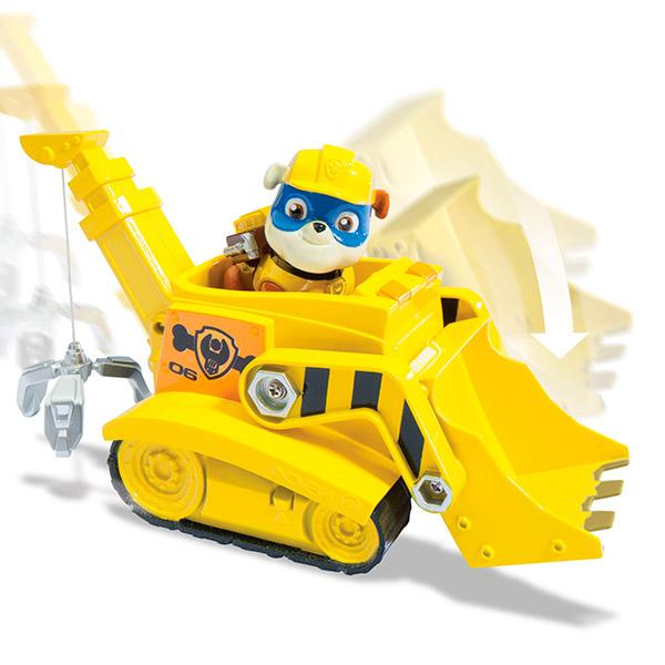 Paw Patrol 16601-Rub Щенячий патруль Машинка спасателя и щенок (Крепыш) игрушка spin master paw patrol мини машинка спасателя с фигуркой героя 16721