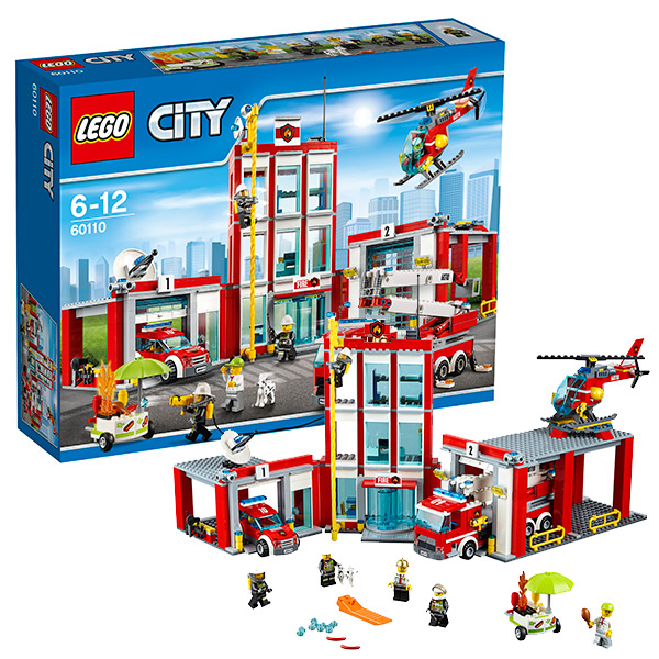 Lego City 60110 Лего Город Пожарная часть lego lego city 60106 набор для начинающих пожарная охрана