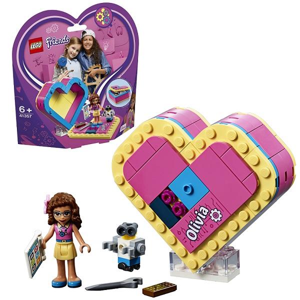 Lego Friends 41357 Конструктор Шкатулка-сердечко Оливии