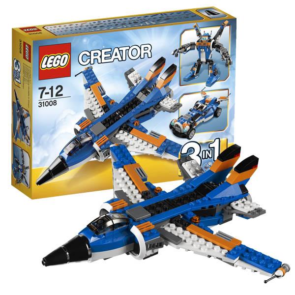 Конструктор Лего Криэйтор 31008 Конструктор Истребитель (робот/автомобиль)