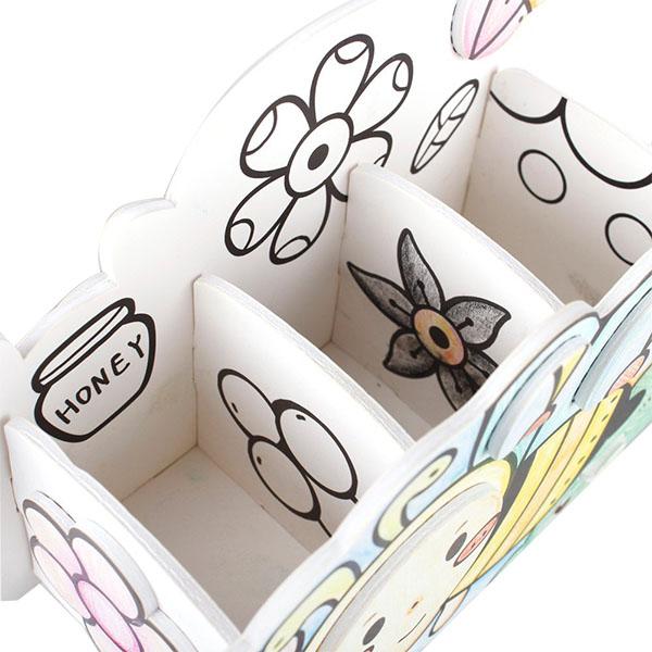 Cubic Fun P694h Кубик фан Пазл-раскраска Пчела и улитка (5 фломастеров в комплекте)
