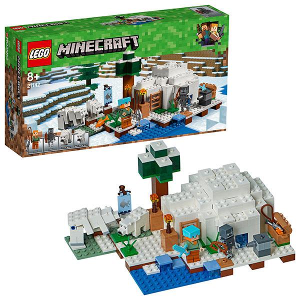 цена на LEGO Minecraft 21142 Конструктор ЛЕГО Майнкрафт Иглу