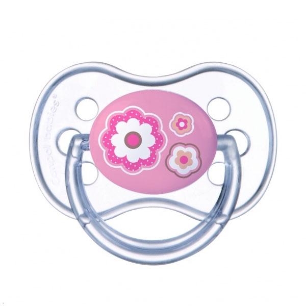 Canpol babies 250989184 Пустышка симметричная силиконовая, 6-18 Newborn baby, цвет: розовый