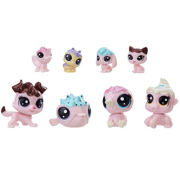 Hasbro Littlest Pet Shop E0397 Литлс Пет Шоп Набор игрушек 8 Зефирных Петов игровой набор littlest pet shop литл пет шоп shaken dry salon c0043 c1202