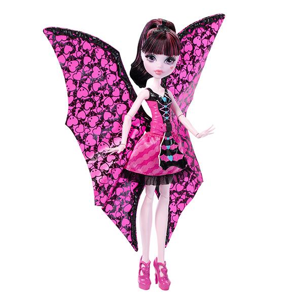 Mattel Monster High DNX65 Дракулаура в трансформирующемся наряде monster high кукла дракулаура цвет платья розовый черный