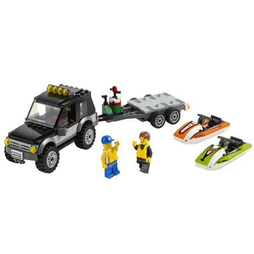 LEGO City 60058 Конструктор ЛЕГО Город Внедорожник с катером