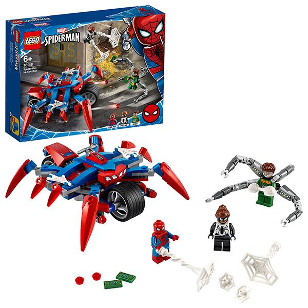 цена на LEGO Super Heroes 76148 Конструктор ЛЕГО Супер Герои Человек-Паук против Доктора Осьминога