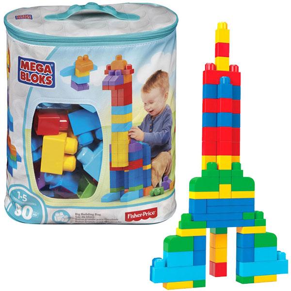Mattel Mega Bloks DCH63 Мега Блокс Мой первый конструктор 80 деталей mattel mega bloks fvj48 мега блокс тележка сортер для сбора деталей розовая