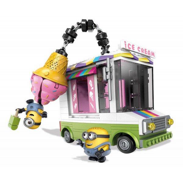 Mattel Mega Bloks DPG73 Мега Блокс Миньоны: фургончик с мороженым
