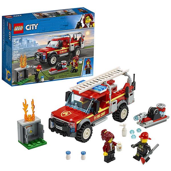 LEGO City 60231 Конструктор ЛЕГО Грузовик начальника пожарной охраны lego city городская больница 60204