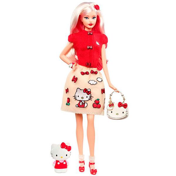 Mattel Barbie DWF58 Барби Коллекционная кукла Hello Kitty mattel mattel кукла ever after high мишель мермейд
