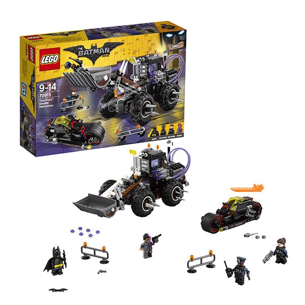 Lego Batman Movie 70915 Лего Фильм Бэтмен: Разрушительное нападение Двуликого конструкторы lego lego разрушительное нападение двуликого batman movie 70915