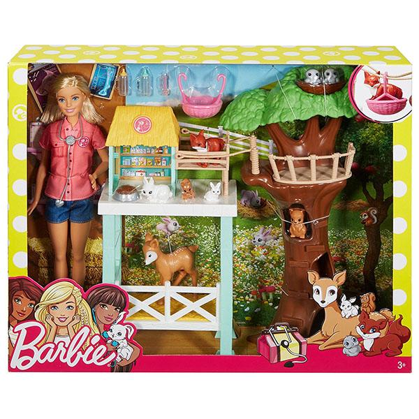 """Mattel Barbie FCP78 Барби Игровой набор """"Спасатель животных"""""""