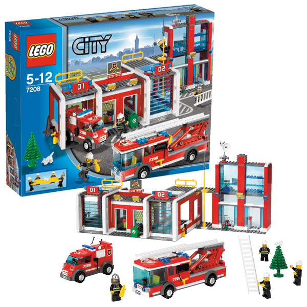 Lego City 7208 Конструктор Лего Город Пожарное депо