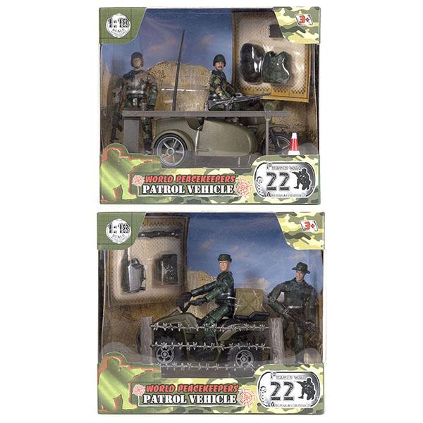"""World Peacekeepers MC77019 Игровой набор """"Патруль"""" 2 фигурки, 1:18 (в ассортименте)"""