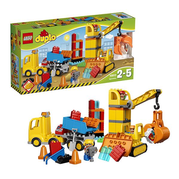 LEGO DUPLO 10813 Конструктор ЛЕГО ДУПЛО Большая стройплощадка lego duplo 10812 конструктор лего дупло грузовик и гусеничный экскаватор